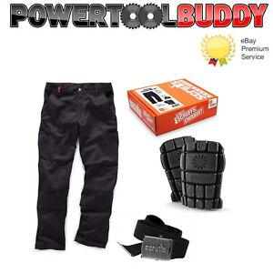 Scruffs Hampton Work Trousers Box Set With Knee Pads & Belt