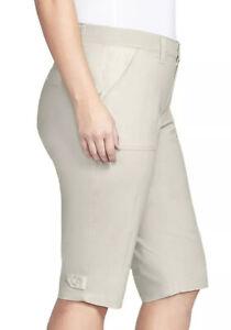 Women's Plus GLORIA VANDERBILT Beige Utility Skimmer Capris Size 22W NWT