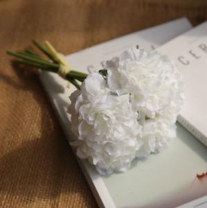 Peony Hydrangeas Bridesmaid Roses Bouquet Bridal Silk Flower Wedding Decor