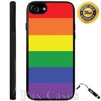 Rainbow Stripes Pride Custom Case For iPhone 6S 7 Plus Samsung Galaxy S7 S8 Plus