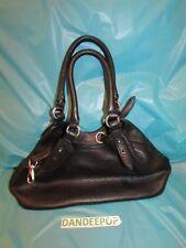 Cole Haan Designer Pebbled Leather Black Shoulder Handbag Made In India