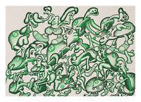 Peter Saul, Lithografie, signiert und nummeriert.