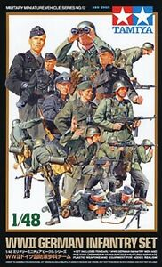 Tamiya 1/48 WWII German Infantry Plastic Figure Set 32512