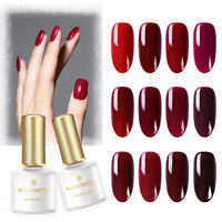 BORN PRETTY 6ml Soak Off UV Gel Polish Pure Red Series Nail Art Gel Varnish