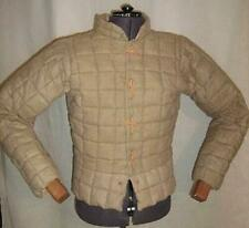 New Style Medieval Celtic Viking Padded Armour Camel Gambeson With full Sleeves