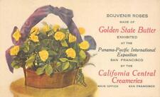 Golden State Butter Roses San Francisco PPIE 1915 CA Central Creameries Postcard
