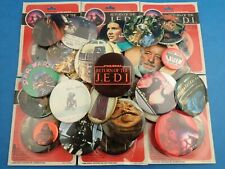Vintage STAR WARS BADGES Return Of The Jedi etc Sealed + Used -Choose Your Badge