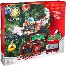 Christmas Tree Train Set-Around the Tree Xmas Decoration Festive Light Up Sound