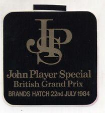 Adesivo Formula 1 BRITISH GP Brands Hatch 1984 JOHN PLAYER SPECIAL F1 sticker