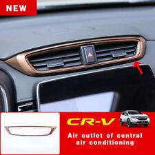 For Honda CRV CR-V 2017 2018 Peach Wood Grain Air Vent Outlet Panel Cover 1PCS