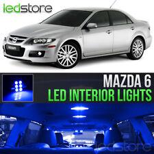 2003-2008 Mazda 6 Blue LED Lights Interior Kit Package Bulbs MazdaSpeed