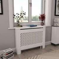 "Radiator Cover White Heating Cabinet Furniture Heater Modern Living room 44.1"""