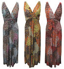 BLUE, YELLOW & RED PAISLEY PATTERN MAXI DRESS WITH WIDE STRAPS. SIZE S,M,L,XL.