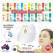 To 30 Packs DERMAL Moisture COLLAGEN Essence Face Facial Care Mask Sheet Korean