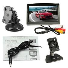 5'' Zoll TFT LCD Monitor Farb Bildschirm DVD Video für Auto KFZ Rückfahrkamera