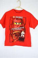 LEGO Ninjago Masters of Spinjitzu Sensei Wu Red Kai T SHIRT Boys Large