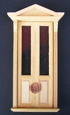 1:12 doppia porta in legno Vittoriana Negozio Casa delle Bambole Miniatura Accessorio Fai da Te 067
