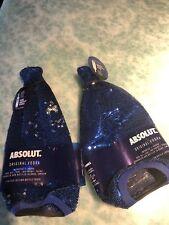Absolut Vodka Sequin Skin Set Of 2 . 750ml