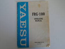 YAESU FRG-100 (GENUINE INSTRUCTION MANUAL ONLY)...........RADIO_TRADER_IRELAND.