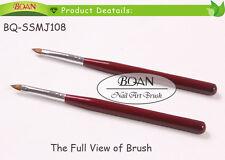 1pc New Red Wooden Handle Drawing Nail Art Kolinsky Hair 3D Art Brush 4#