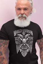 Bikers T shirt Harley Davidson Skull Men Women Birthday Gift Dad Cool Chopper