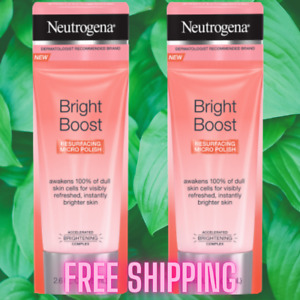 Neutrogena Bright Boost Resurfacing AHA Micro Face Polish, 2.6 fl. Oz - 2 Pack
