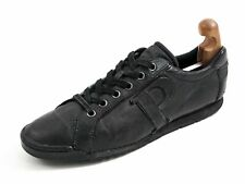 Prada Low Top Fashion Sneakers Black Leather Men Shoe Size US 11 EU 44 $520
