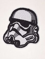 Star Wars: STORMTROOPER HELMET Embroidered Iron on/ Sew on Logo Patch