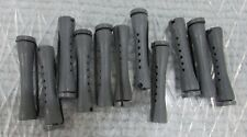 """11 Vintage Red 2-1/2"""" Perm Rod Hair Curlers Clean Excellent Condition FREE S/H"""