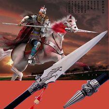 "L 78"" Vengeance red-tasselled spear pike lance sword Stainless Steel blade #0095"
