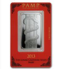1 oz PAMP Suisse Lunar Snake Silver Bar