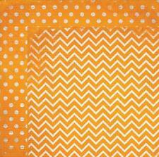 BoBunny 12x12 papel scrapbooking Doble Dot Collection Naranja Chevro X 2 Hojas