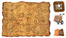 Plastic Pirate Treasure Map Party Accessory Festive Decorations Antique Look