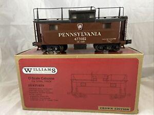 Williams O Scale Pennsylvania caboose #477032 3 Rail With Box