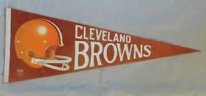 Vintage 1970's Cleveland Browns NFL Football Pennant Full Size 29''