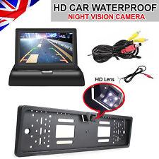 "4.3"" Monitor + Car Rear View Reversing Camera License Number Plate Night Vision"