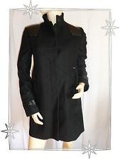 Magnifique Manteau Noir  Fantaisie  Roberto Torretta Taille 40