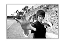 Black and White Bruce Lee Poster Wall Prints Movie Star Art Home Decoration