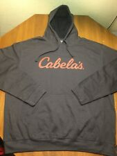 Cabela's Gray Pullover Hoodie Mens 2XL XXL sweater sweatshirt orange Screen