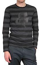 Gestreifte Herren-Freizeithemden & -Shirts aus Baumwolle mit Rundhals-Ausschnitt