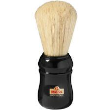 OMEGA 10049 Shaving Brush Black Handle  Made in Italy Professional