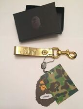 Bape Gold Leather Keychain
