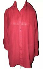 Marks and Spencer DONNA WOMEN'S RED Blusa Taglia 18