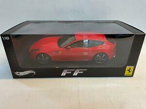 Hot Wheels Elite Ferrari FF rossa red 2011 1/18 W1105