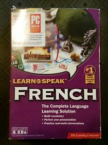 The Learning Company Learn to Speak French 8.1 5 CD Set