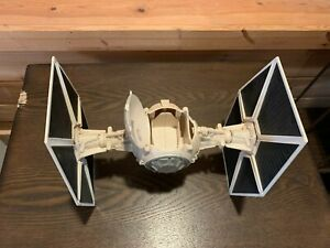 Star Wars 2003 White Tie Fighter Vehicle with detachable wings 10 inches
