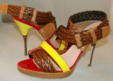 JPG JEAN PAUL GAULTIER Strappy Multicolor Leather Sandals Size 9 / 39 Italy