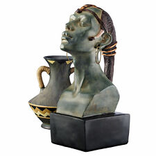 Regal African Queen Tribal Statue Nubian Royal Bust Sculpture NEW
