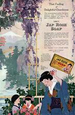 Japanese Rose Soap JAPANESE GARDEN Mt Fuji WHISTERIA Children 1918 Print Ad