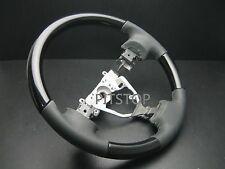 TOYOTA RAV4 2006-2012 Black piano wood look Genuine leather steering wheel